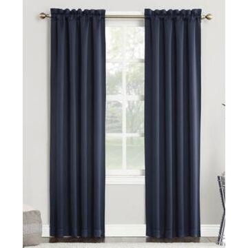 "Sun Zero Preston 40"" x 84"" Rod-Pocket Blackout Curtain Panel"