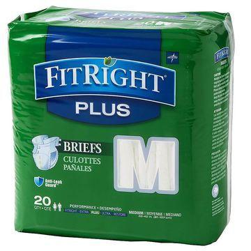 Medline FitRight Plus Briefs Medium