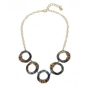 Robert Lee Morris Soho Women's Abalone Link Frontal Necklace