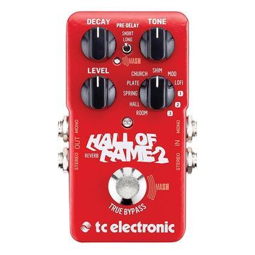 TC Electronic Hall of Fame 2 Reverb Pedal MultiColored