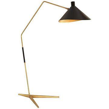 Mayotte Floor Lamp - AERIN - Antique Brass/white