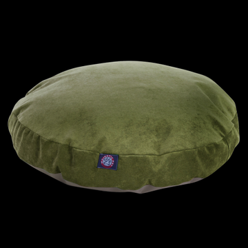 Majestic Pet Villa Round Dog Bed Velvet Removable Cover Fern Large 42