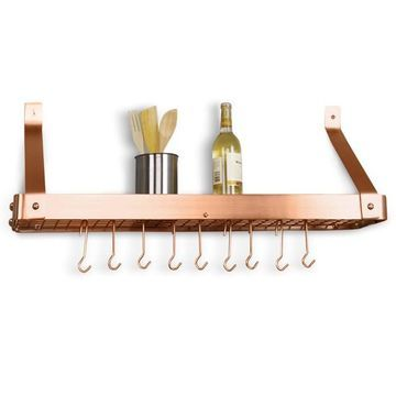 Old Dutch Copper Wall-Mount Pot Rack