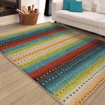Orian Rugs Bright Colors Stripes Sable Stripes Multi Area Rug