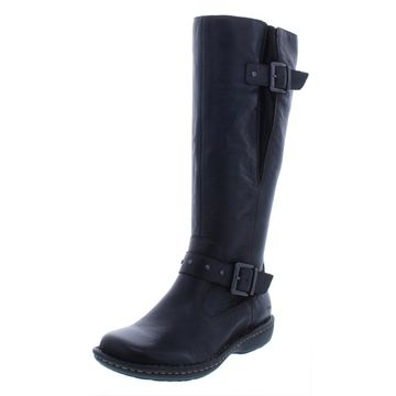 B.O.C. Womens Austin Leather Buckle Riding Boots