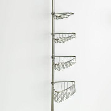 interDesign 5-pc. Shower & Bath Tension Pole Caddy Set
