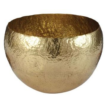 Lazy Susan Gold Hammered Brass Dish, Large