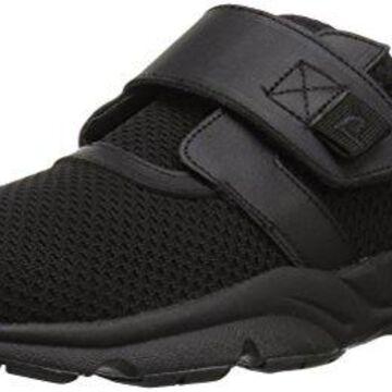 Propet Women's Stability X Strap Sneaker, Black, 13 Wide US