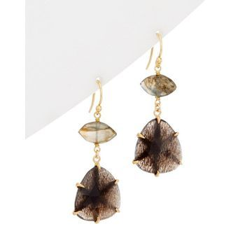 Chan Luu 18K Over Silver Gemstone Drop Earrings