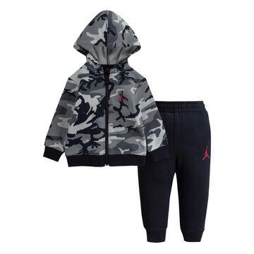 Jordan Little Camo Full-zip Hoodie and Pants, 2 Piece Set