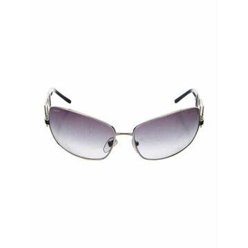 Oversize Gradient Sunglasses Silver
