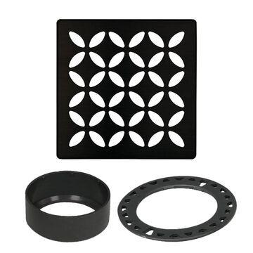 Schluter Systems Kerdi-Drain Matte Black Stainless Steel Shower Drain   KDIF4GRKMGSD5