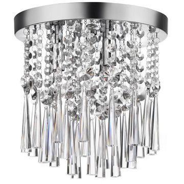 Dainolite 3-light Crystal Flush Mount Fixture
