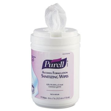 PURELL Premoistened Sanitizing Wipes Alcohol Formulation 6 x 7 White 175