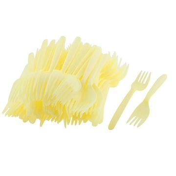 Unique Bargains Wedding Birthday Party Plastic Disposable Fast Food Forks Cutlery 90 Pcs