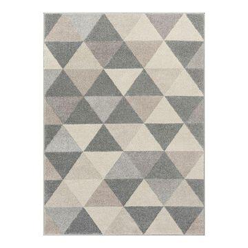 Well Woven Mystic Alvin Mid-Century Modern Geometric Area Rug, Grey, 4X5 Ft