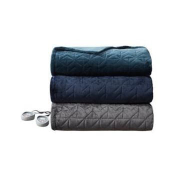 Beautyrest Pinsonic Heated Quilted Blanket, Queen 90 x 84 Bedding