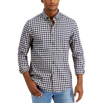 Club Room Men's Soft Touch Brushed Cotton Stretch Shirt, Created for Macy's