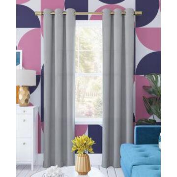 Sun Zero Harper Bright Vibes 100% Blackout Grommet Curtain Panel, 40
