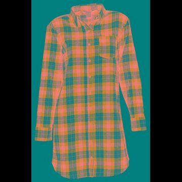 Natural Reflections Flannel Long-Sleeve Sleep Shirt for Ladies