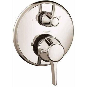 Hansgrohe Ecostat Classic Thermostatic Trim with Volume Control and Diverter, Round in Polished Nickel