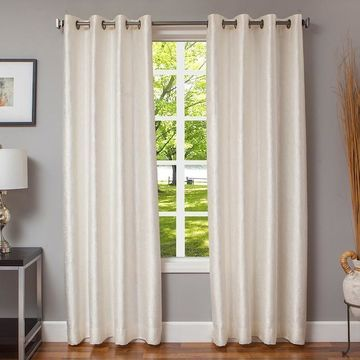 Softline 1-Panel Morena Textured Window Curtain