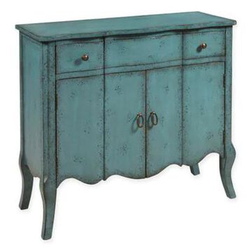 Pulaski Distressed Accent Chest in Turquoise
