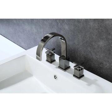 Legion Furniture 8 in. Widespread 2-Handle Bathroom Faucet in Glossy Black