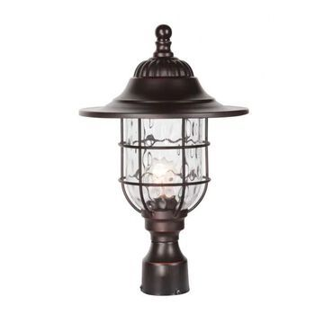 """Craftmade Fairmont 18"""" Outdoor Post Light in Oiled Bronze Gilded"""
