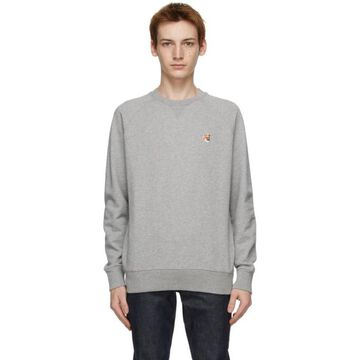 Maison Kitsune Grey Fox Head Sweatshirt