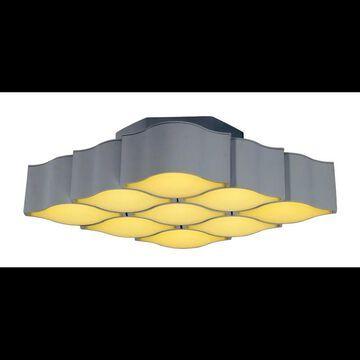 ET2 E24122 Billow Convertible 9 Light LED Flush Mount Ceiling Fixture / Wall Sconce Matte White Indoor Lighting Ceiling Fixtures Flush Mount