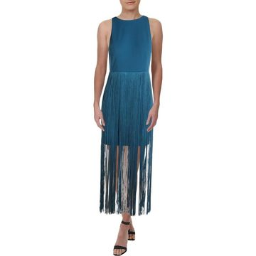Aidan Mattox Womens Cocktail Dress Fringe Sleeveless