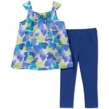 Toddler Girls 2-Pc. Ruffle Heart Tunic & Leggings Set