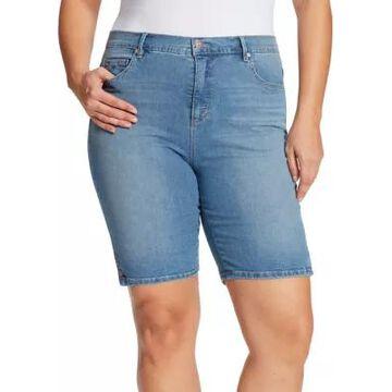Gloria Vanderbilt Women's Plus Size Amanda Bermuda Shorts - -