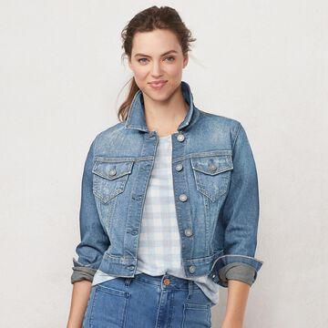 Women's LC Lauren Conrad Shrunken Denim Trucker Jacket