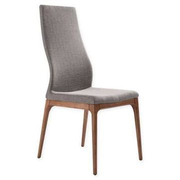 Armen Living Parker Upholstered Dining Chair in Grey