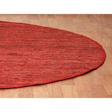 Copper Matador Leather Chindi Rug