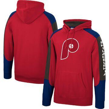 Mitchell & Ness Philadelphia Phillies Red Fusion Fleece Pullover Hoodie