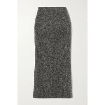 Altuzarra - Tony Ribbed Wool And Cashmere-blend Midi Skirt - Charcoal