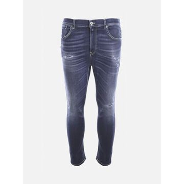 Dondup Faded-effect Stretch Cotton Jeans