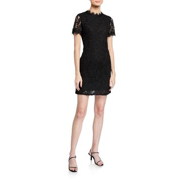 Lace Dress With Cording Detail