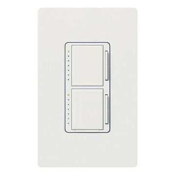Lutron Maestro Single Snow Decorator Light Dimmer | MA-L3L3-SW