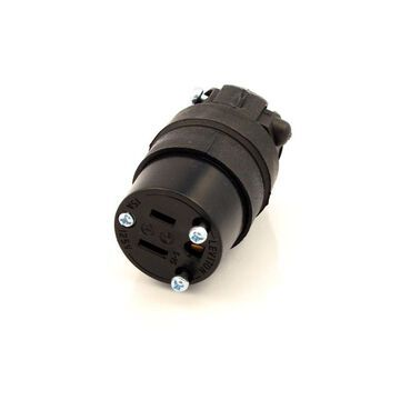 Leviton 000-515CR Commercial Grade Straight Blade Rubber Connector