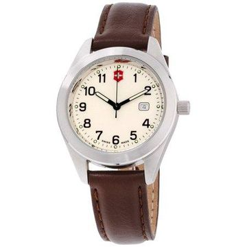 Victorinox Men's Garrison Beige Dial Leather Strap Watch 26029CB