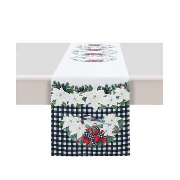 """Laural Home Christmas Trimmings Table Runner - 72"""" x 13"""""""