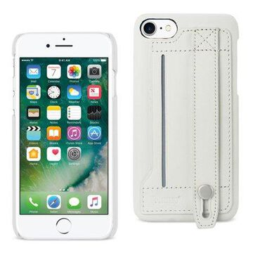 Iphone 7 Genuine Leather Hand Strap Case In Ivory