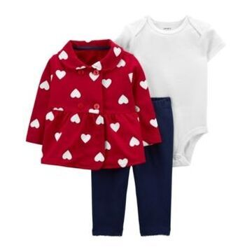 Carter's Baby Girl Valentine's Day 3-piece Cardigan Set