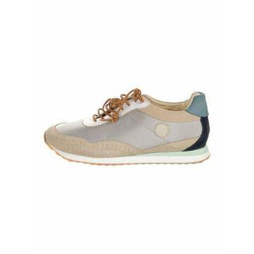 Suede Colorblock Pattern Sneakers