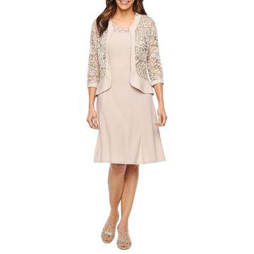 R & M Richards Sleeveless Jacket Dress