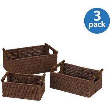 Household Essentials Paper Rope Baskets, Set of 3